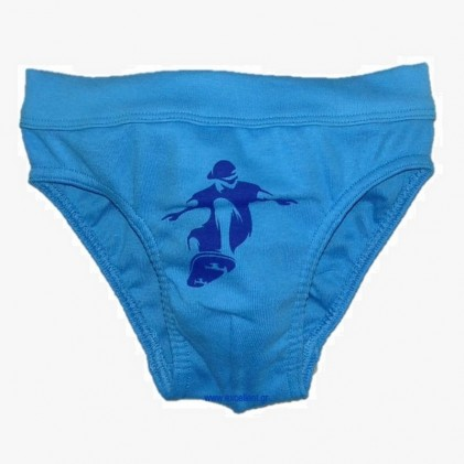 cotton baby boy briefs blue skate