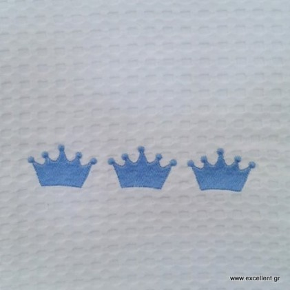 baby blanket cloth wafer blue crown