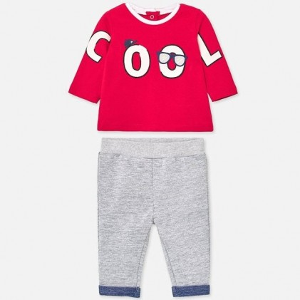 Set long sleeved for baby boy red grey_1