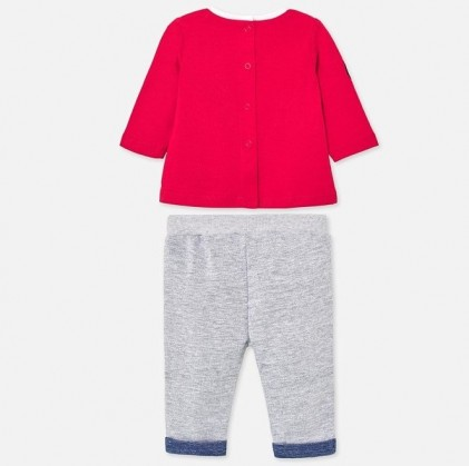 Set long sleeved for baby boy red grey_2