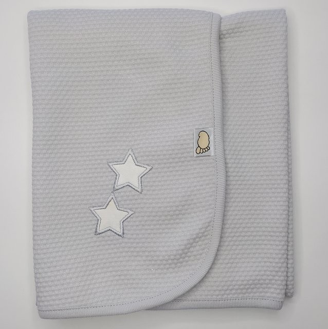 Baby gray cuddle diaper with stars