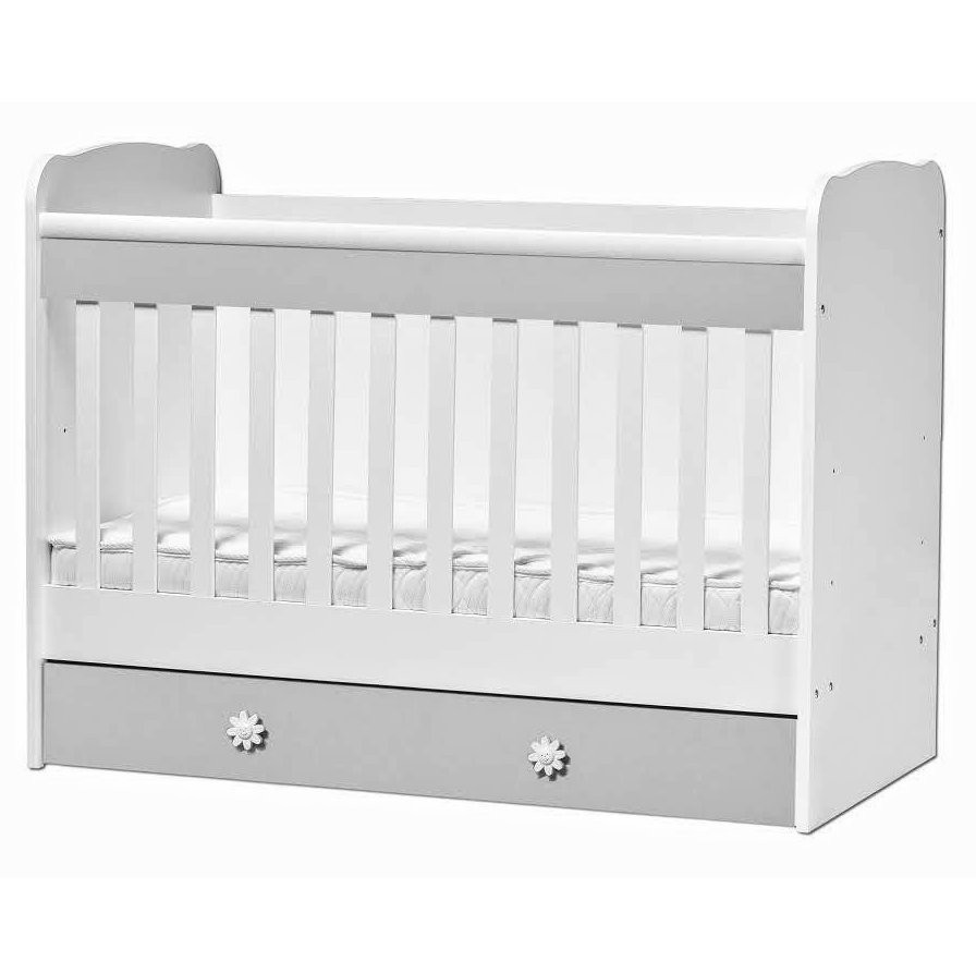 Baby bed kallina white grey