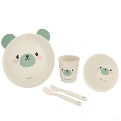 Kikka Boo Bamboo Tableware Bear Mint