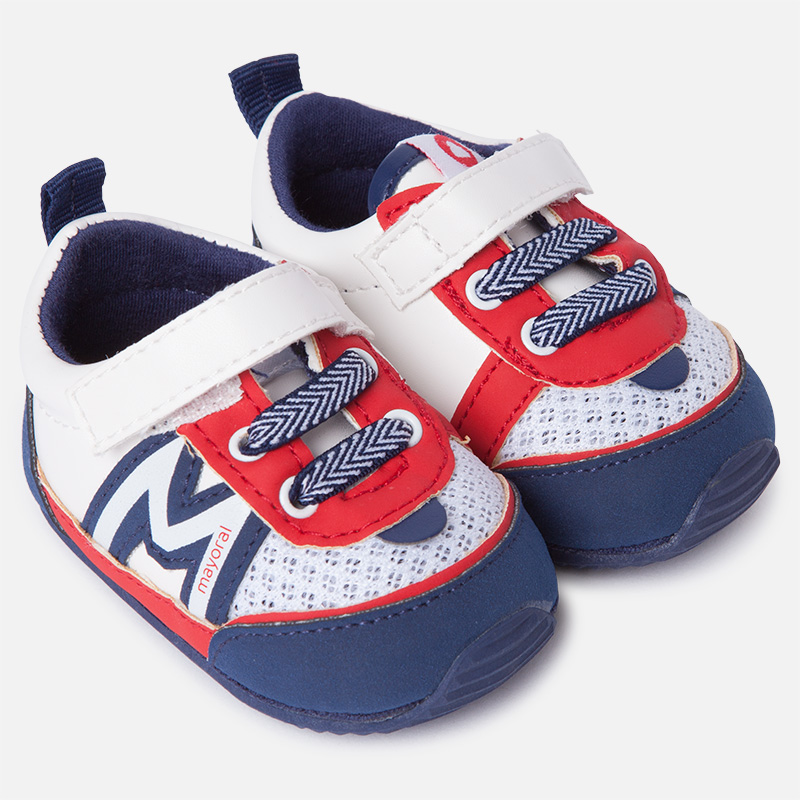 7179f78bafc2 Leatherette sport shoes for baby boy blue red - baby clothes - Excellent
