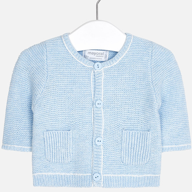 832242695 Knit cardigan for baby boy sky blue
