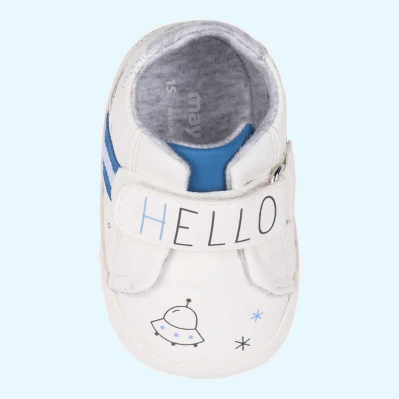 dd7868f4dd88 mayoral sporty shoes white blue sky - baby clothes - Excellent