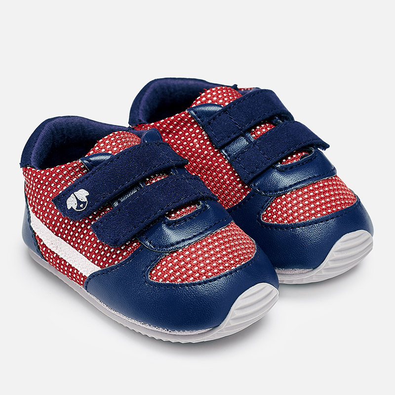 29adf1abd781 Leatherette sport shoes for baby boy red blue - baby clothes - Excellent