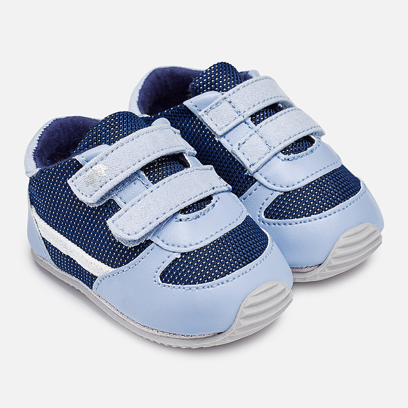 a4eaa906bf85 Leatherette sport shoes for baby boy blue - baby clothes - EXCELLENT