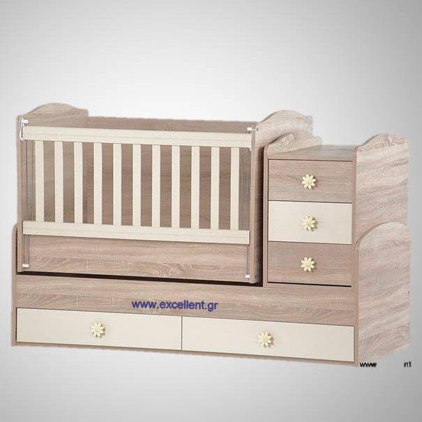 db727c3dbaf πολυμορφική κούνια μωρού mia Δρύς με κρέμ - Βρεφικό Δωμάτιο - Excellent